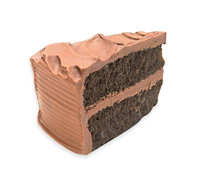 Réplica de pastel de chocolate