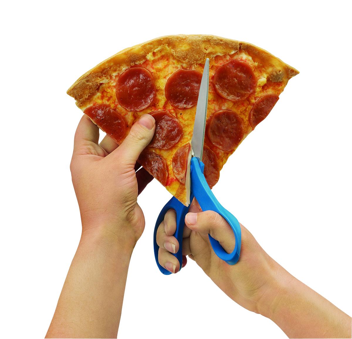 Réplica de pizza cortando por la mitad Nasco