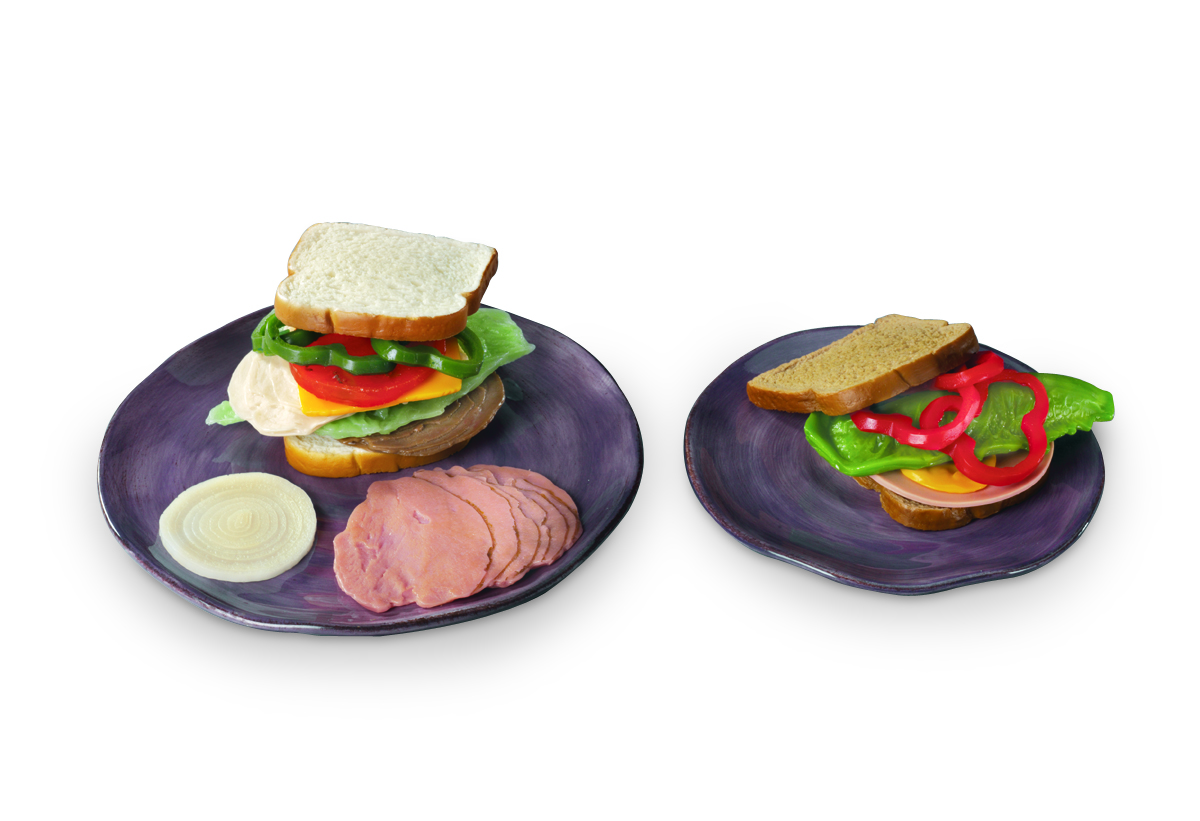 Réplicas de sándwich Nasco
