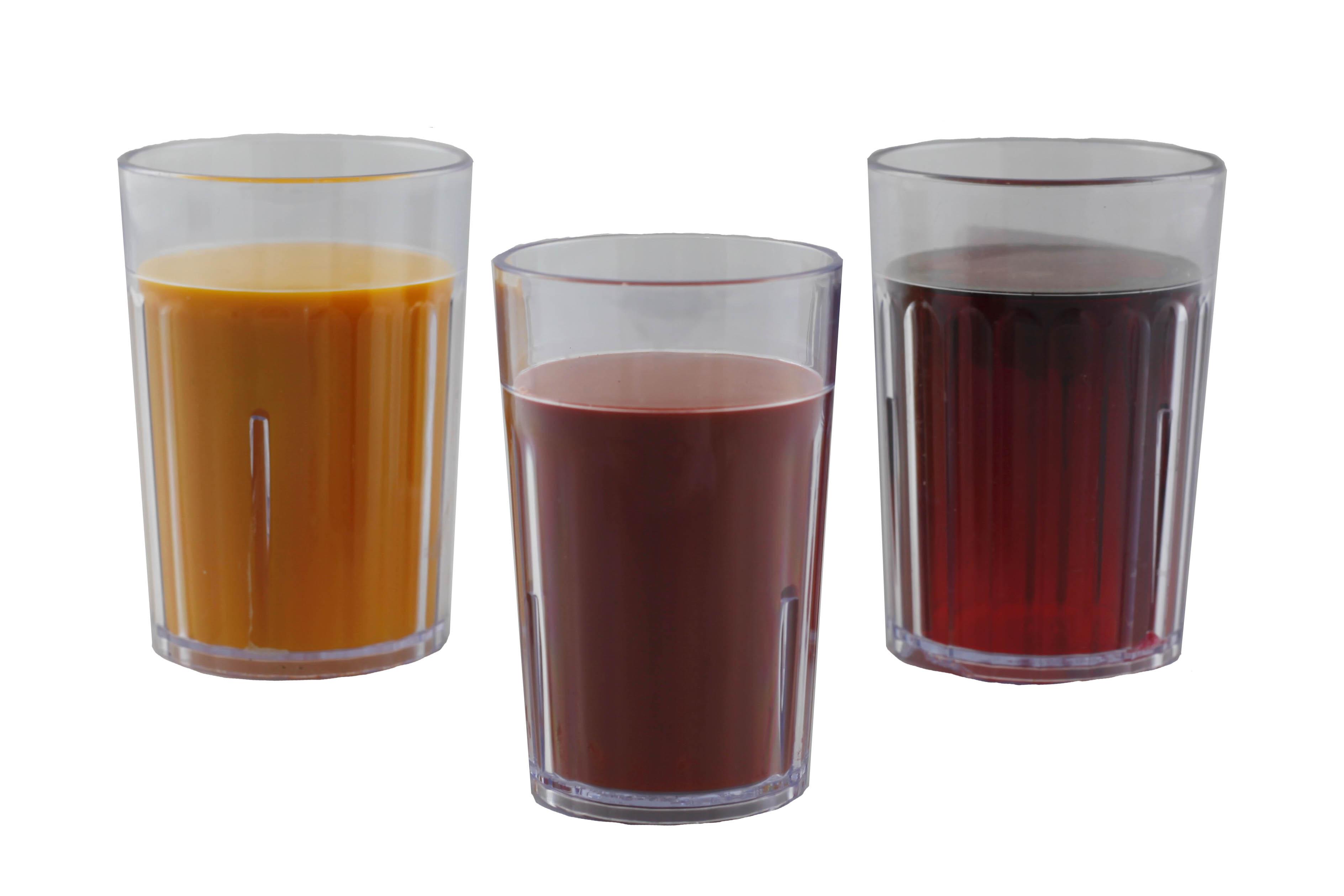 Réplica de vasos con jugo Nasco