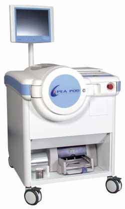 Pletismografo pediátrico Pea Pod de Bod Pod