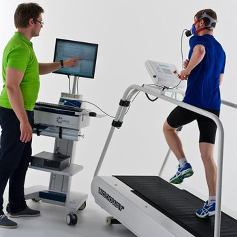 metalyzer 3b cortex con paciente de medicina deportiva