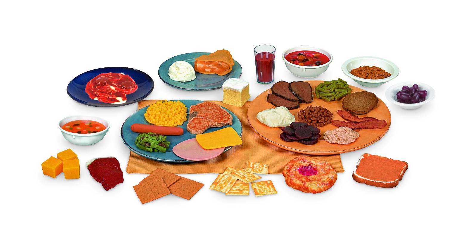 Paquete número dos de réplicas de alimentos Nasco