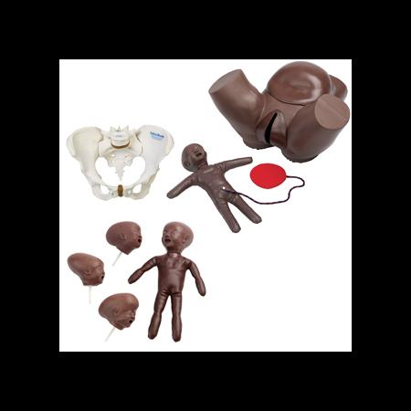 Fantoma obstétrico con muñeca fetal adam rouilly paquete