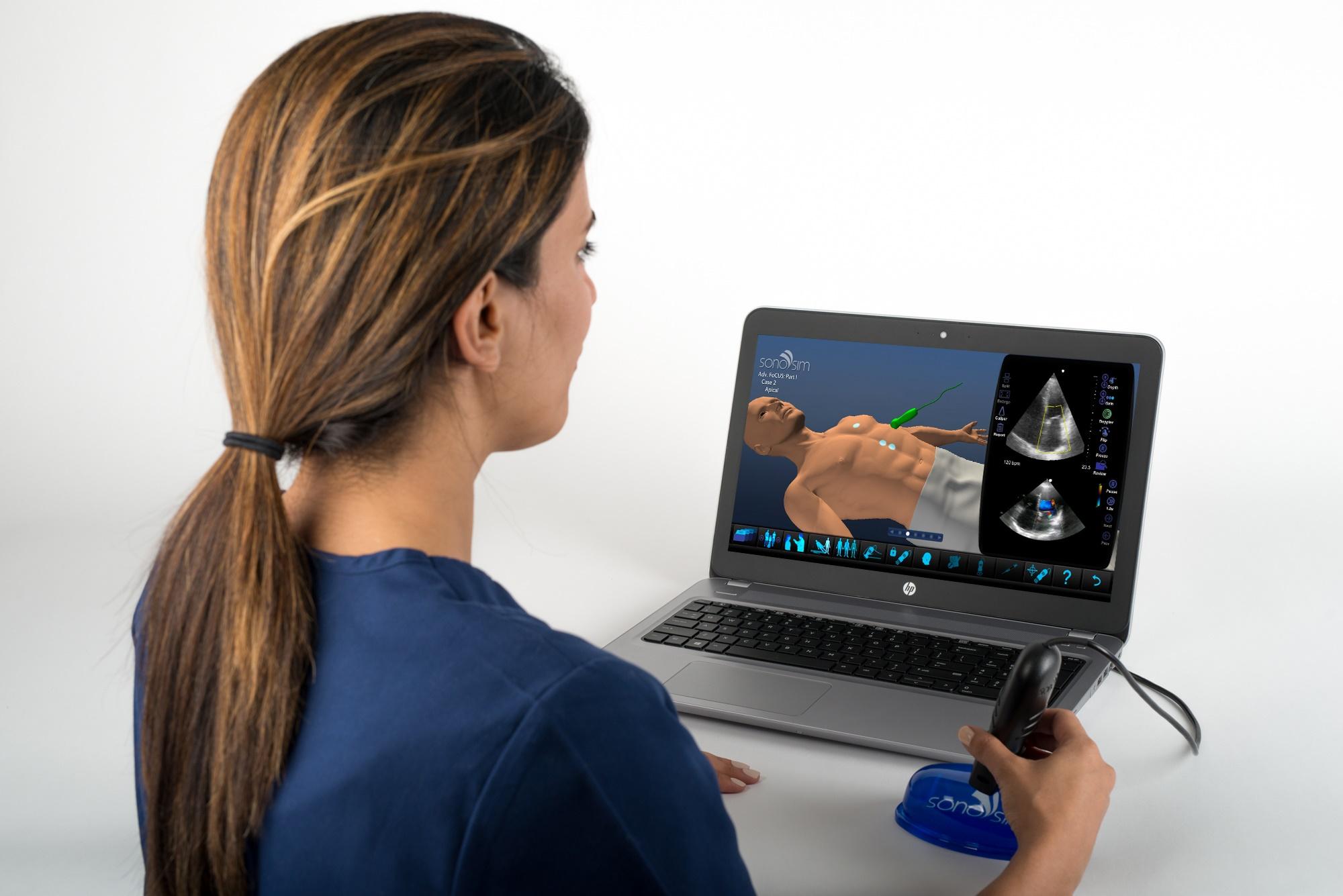 Sonosim escenarios para entrrenamiento en ultrasonido