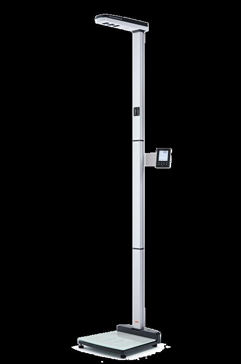 seca 286 Estación inalámbrica de medición ultrasónica de estatura y peso con guía de voz