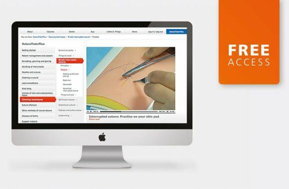 Acceso gratuito a tutor de sutura (usuario único)