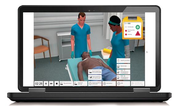 HeartsCode BLS Laerdal tocun screen TAQ Sistemas Médicos